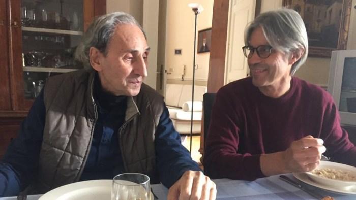 Franco Battiato a pranzo con Luca Madonia torna sui social con una foto