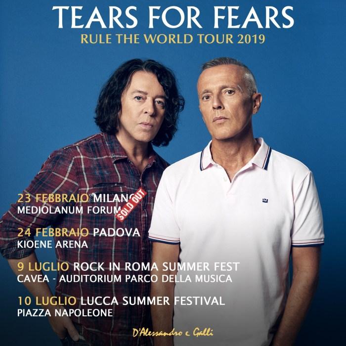 Tears For Fears in concerto a febbraio a Milano e Padova e a giugno a Roma e Lucca