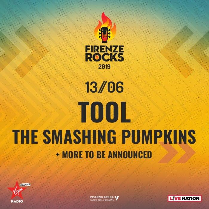 Gli Smashing Pumpkins si aggiungono alla lineup del Firenze Rocks nella giornata di apertura di giovedì 13 giugno 2019