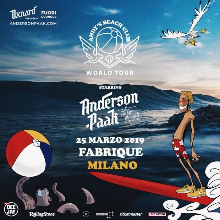 """Anderson .Paak torna in Italia il 25 marzo a Milano per presentare il nuovo album """"Oxnard"""""""
