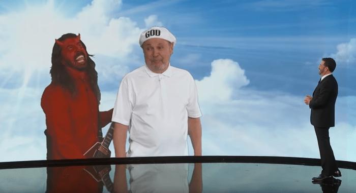 Dave Grohl e Billy Crystal sono Satana e Dio nel nuovo sketch del Jimmy Kimmel Live!
