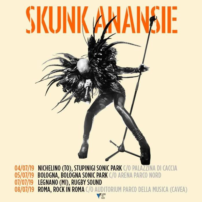 Skunk Anansie in concerto a Nichelino, Bologna, Legnano e Roma