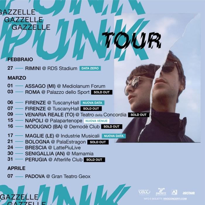 """le date del """"Punk Tour"""" di Gazzelle"""