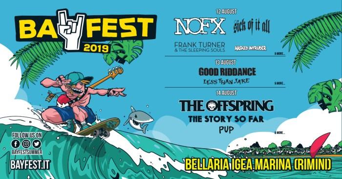 Good Riddance, Pup e Masked Intruder nuovi nomi della lineup del Bay Fest 2019
