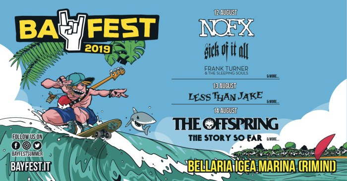 Less Than Jake e SIck Of It All nella lineup del bay Fest 2019