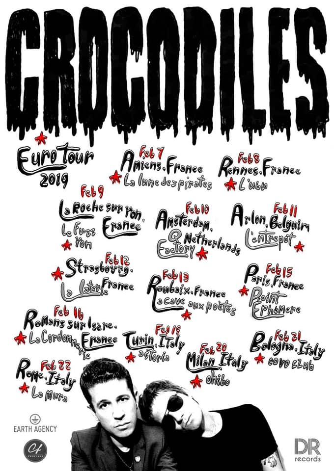 Crocodiles in tour a febbraio a Torino, Milano, Bologna e Roma