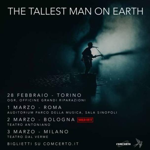 Sold out il concerto del 2 marzo a Bologna di The Tallest Man On Earth