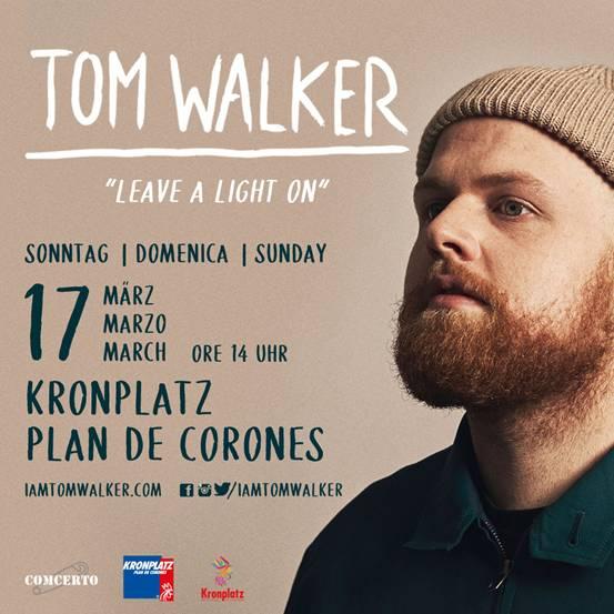 Tom Walker dal vivo a Plan De Corones il 17 marzo