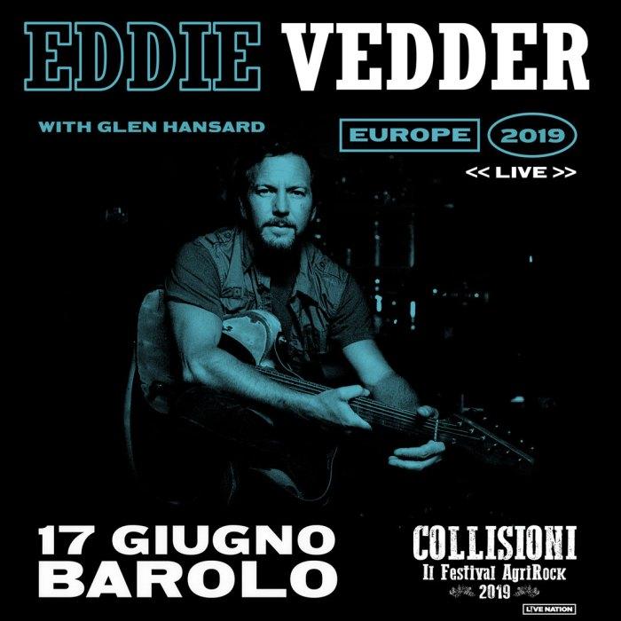 Eddie Vedder dal vivo il 17 giugno al Collisioni Festival di Barolo