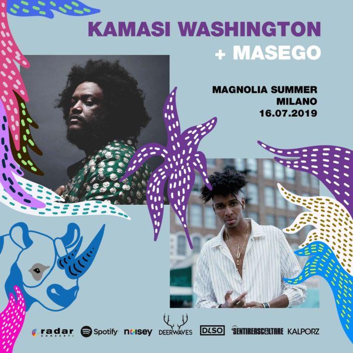 Kamasi Washington e Masego il 16 luglio al Circolo Magnolia di Milano per #MusicIsMyRadar