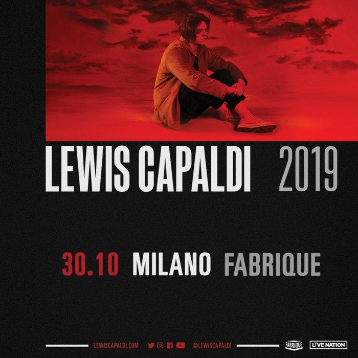 Lewis Capaldi concerto 30 ottobre Milano