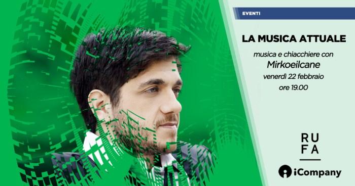 """Mirkoeilcane in concerto a """"La Musica Attuale"""" il 22 febbraio 2019"""