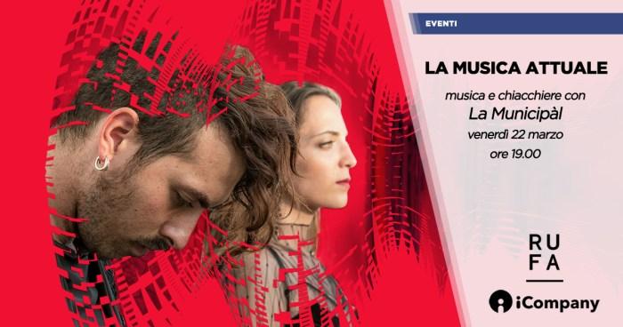 """La Municipàl dal vivo a """"La Musica Attuale"""" venerdì 22 marzo alla Semoleria Pastificio Cerere RUFA a Roma"""