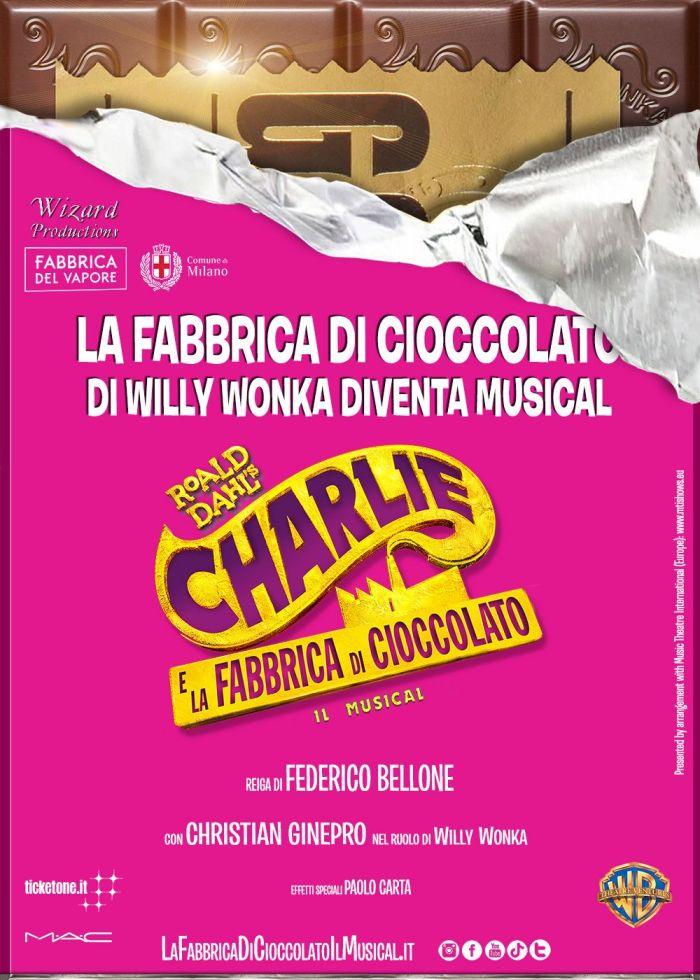 Charlie e la Fabbrica di Cioccolato a Milano dall'8 novembre