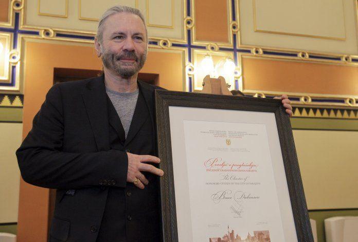 Bruce Dickinson cittadino onorario di Sarajevo, Serbia