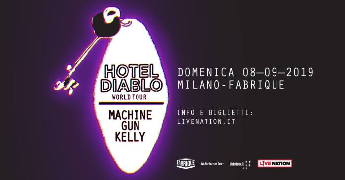 Machine Gun Kelly l'8 settembre in concerto al Fabrique di Milano