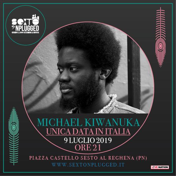Michael Kiwanuka concerto 9 luglio Sexto 'Nplugged