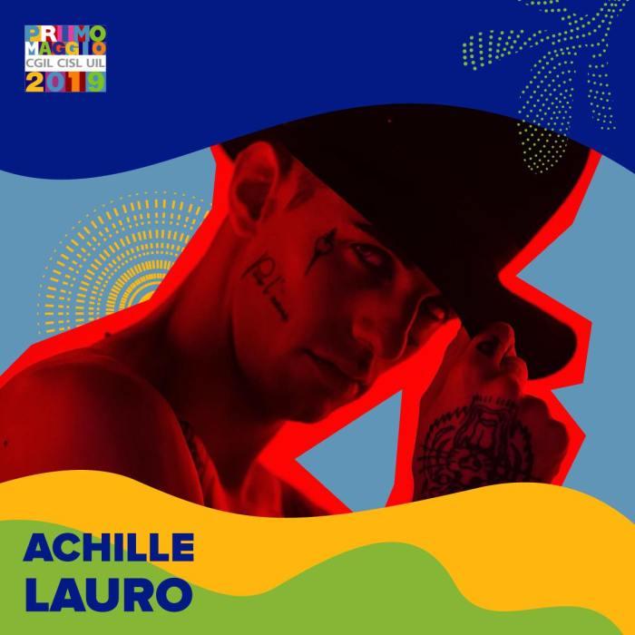 Achille Lauro sul palco del Concertone del Primo Maggio 2019 a Roma