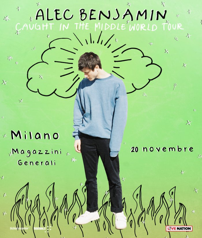 """Alec Benjamin in concerto il 20 novembre a Milano con l'album d'esordio """"Narrated For You"""""""