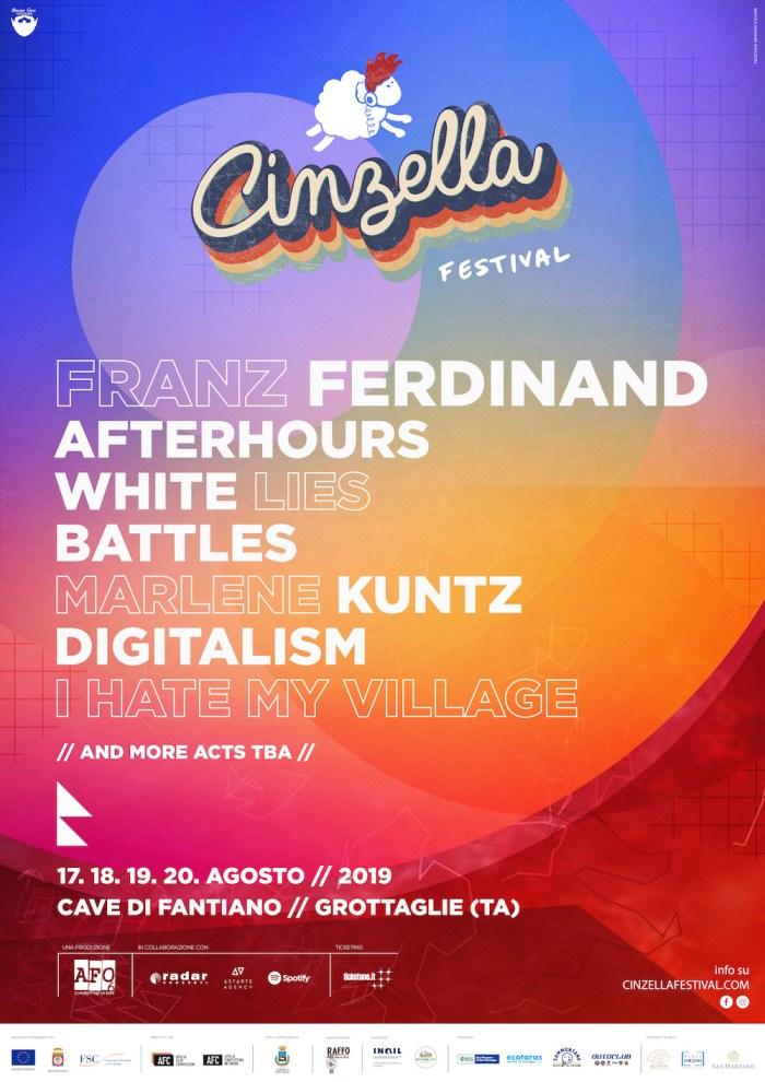 Cinzella Festival lineup 2019