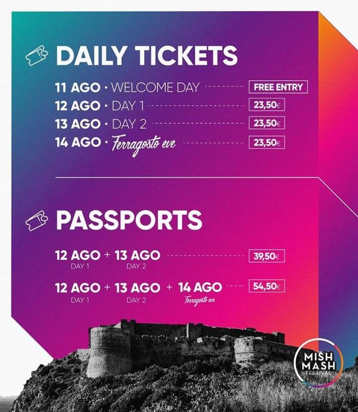 Mish Mash Festival 2019, le info sui biglietti