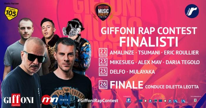 Gli 8 finalisti del rap contest di Giffoni