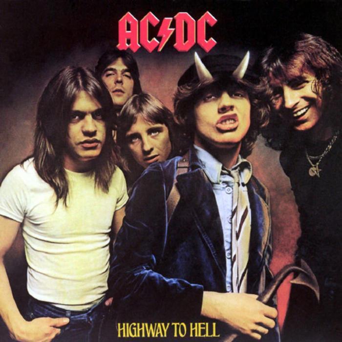"AC/DC ""Highway to Hell"" copertina album"