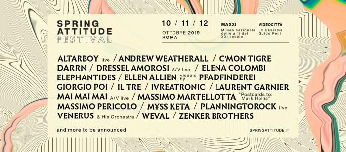 La lineup di Spring Attitude 2019