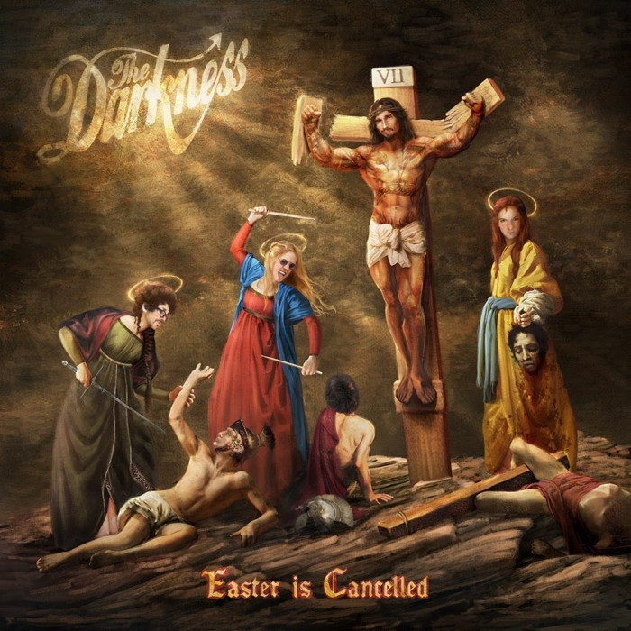 """copertina album """"Easter Is Cancelled"""" The Darkness"""