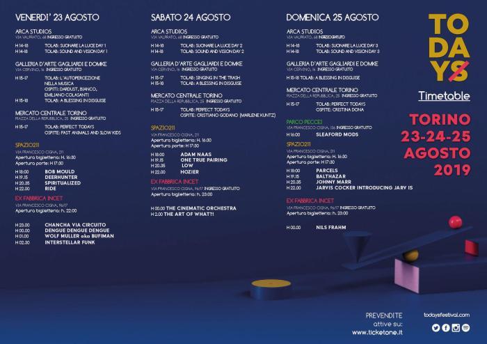 Programma completo e orari TOdays 2019 a Torino