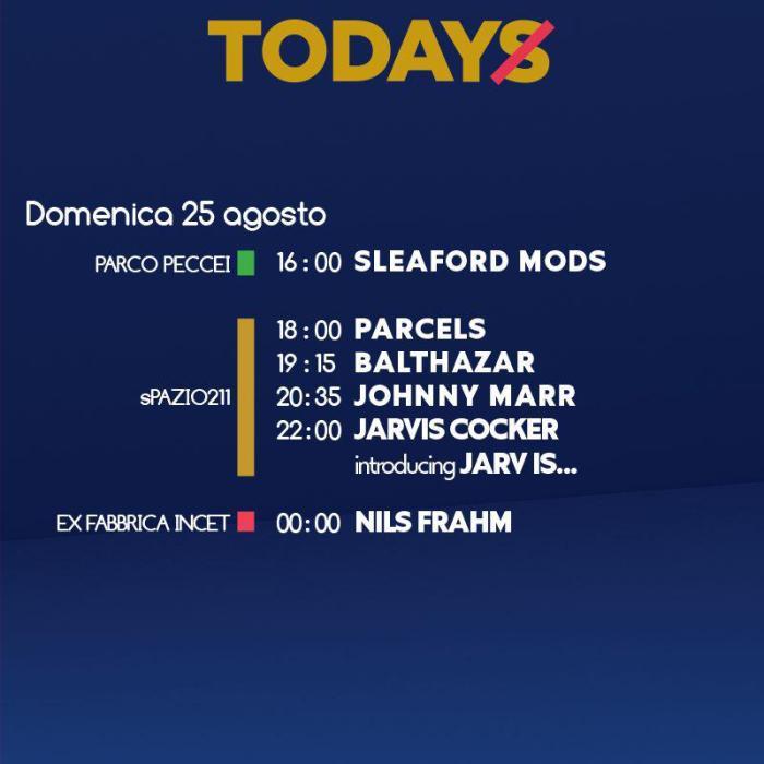 Programma TOdays Festival domenica 25 agosto Torino
