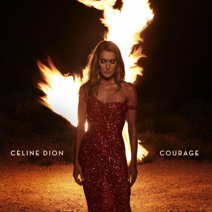 "copertina ""Courage"" Celine Dion"