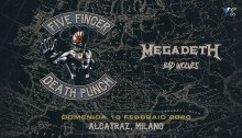 Five Finger Death Punch insieme a Megadeth e Bad Wolves in concerto il 16 febbraio a Milano