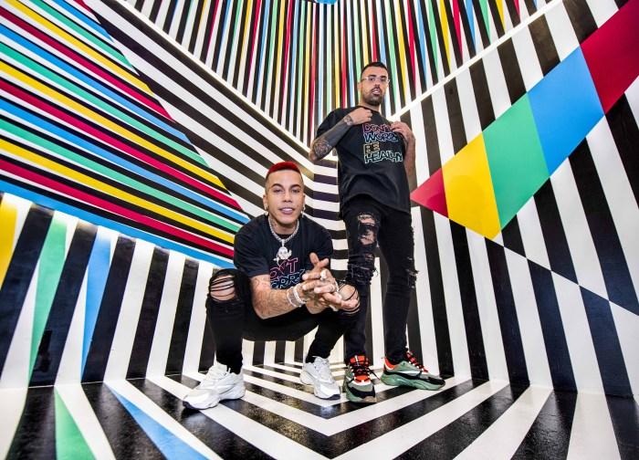 Sfera Ebbasta e Andrea Petagna inaugurano Healthy Color a Milano