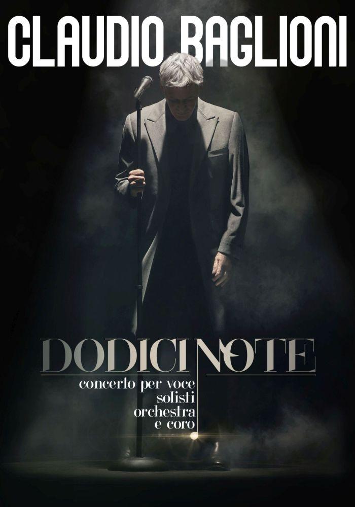 """Poster """"Dodici Note"""" di Claudio Baglioni"""