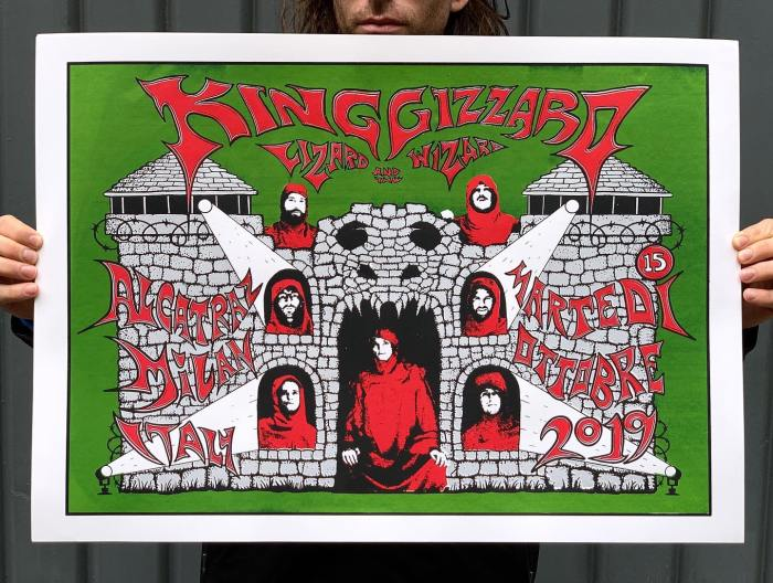 King Gizzard & The Lizard Wizard scaletta concerto Alcatraz Milano