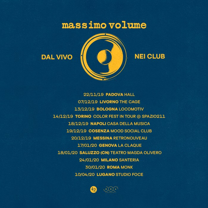 Massimo Volume date nei club