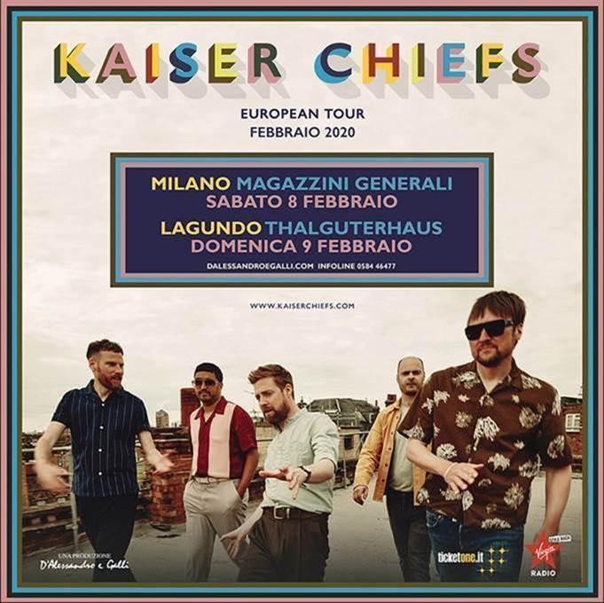 Kaiser Chiefs in concerto 8 e 9 febbraio a Milano e Lagundo