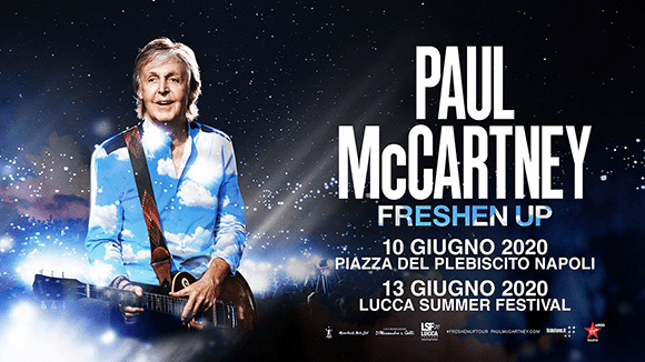 Paul McCartney a Lucca e Napoli a giugno 2020