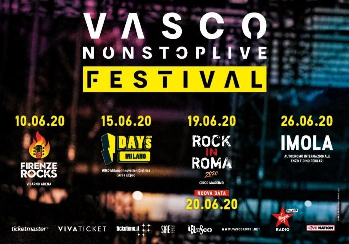 Vasco nuova data Roma 20 giugno 2020