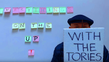 """Brian Eno video """"Everything's On The Up With The Tories"""""""