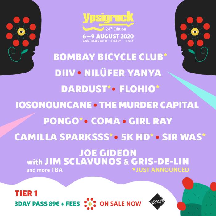Ypsigrock Festival lineup 2020