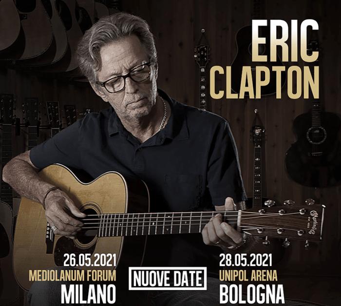 Eric Clapton tour Italia 2020