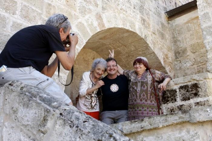 Cecilia Mangini, Paolo Pisanelli e Agnès Varda - Foto di Leonello Bertolucci