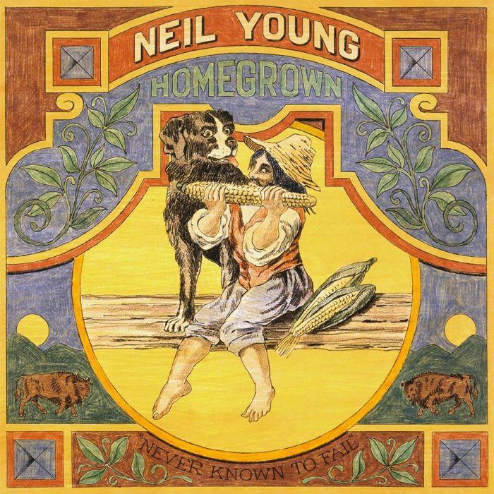 """""""Homegrown"""" copertina album Neil Young"""