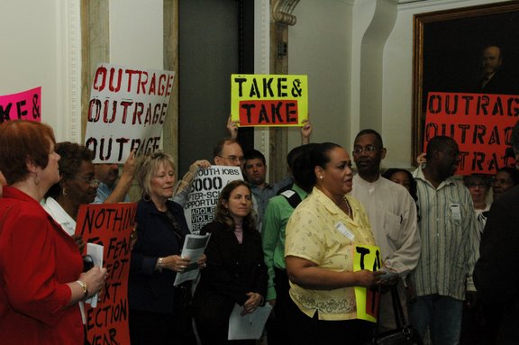 Coalition for Essential Services confronts the Philadelphia City Council and its Budget Cuts, May 21, 2009
