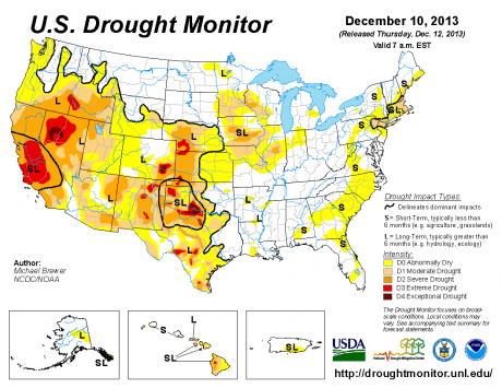 Drought Monitor December 2013