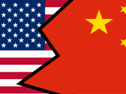 American Flag - Chinese Flag