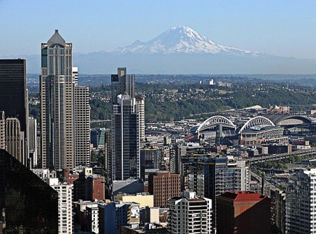 Mount Rainier from Seattle - Public Domain