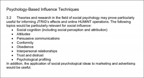 Psychology-Based Influence Techniques